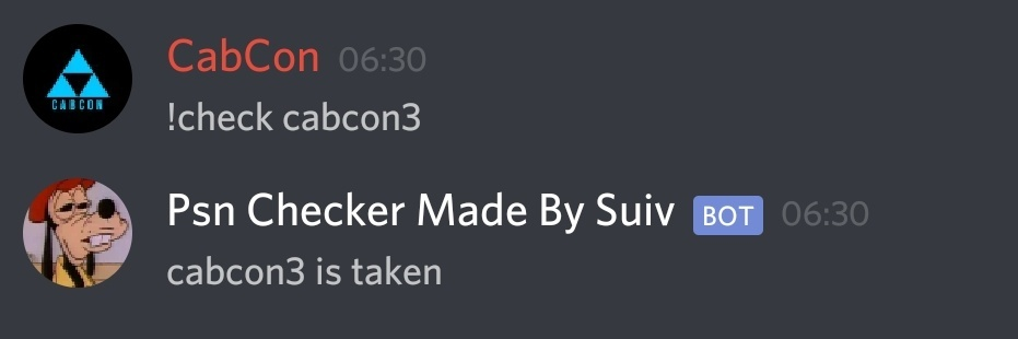 Release - Name PlayStation Network Checker Bot for Discord +Free