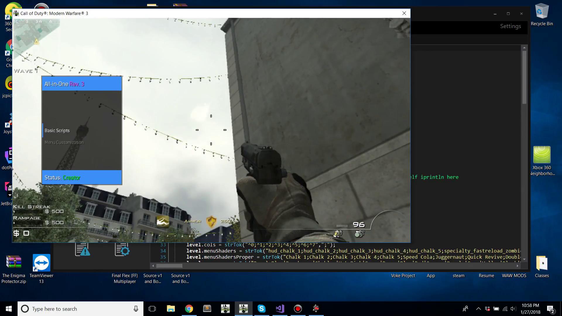 Preview - Call of Duty: Modern Warfare 3 GSC Mod Menu - First